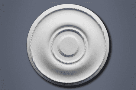 Plain Ribbed Ceiling Rose CP221