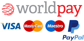 Secure Payments powered by PayPal and Worldpay